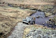 Land Rover series 2 on Welsh hillside early 1960s